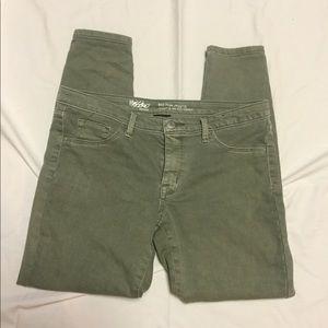 Light green skinny jeans